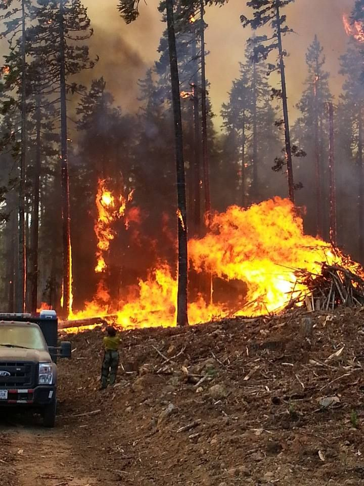 Initial Attack by BIA Helitack crew, western fire, possibly one of