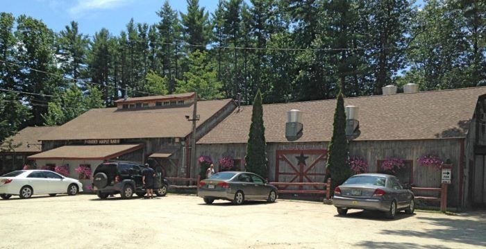 Take a drive through the woods on Brookline Drive near Mason, New Hampshire to find Parker's Maple Barn. It's a quaint little family-owned maple farm that's been in operation since the 1960s. #smallrestaurants