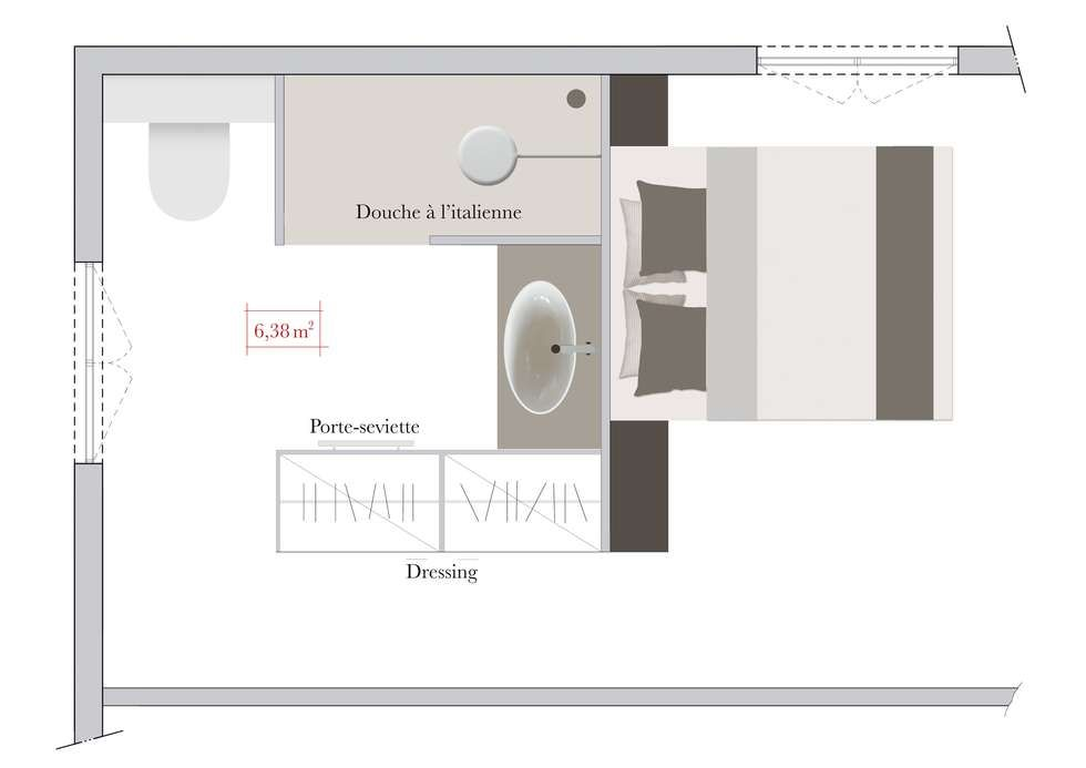 Suites Parentales Aux Salles De Bains Sublimes Suite Master - Porte placard coulissante jumelé avec serrurier paris 17ème