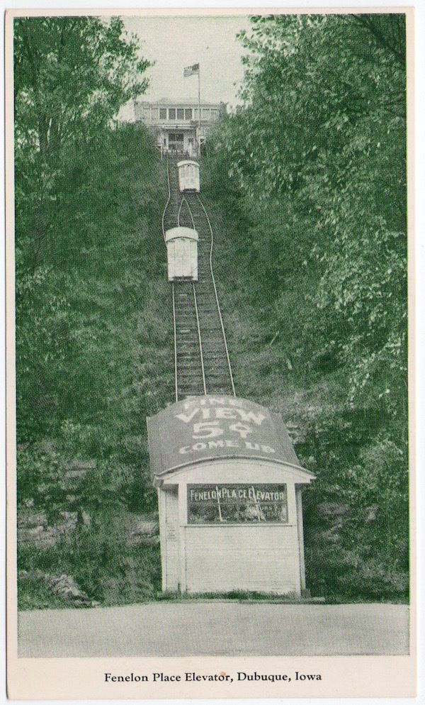 Postcard Fenelon Place Elevator in Dubuque, Iowa~106721
