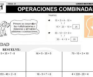 DESCARGAR OPERACIONES COMBINADAS – MATEMATICA SEGUNDO DE PRIMARIA ...