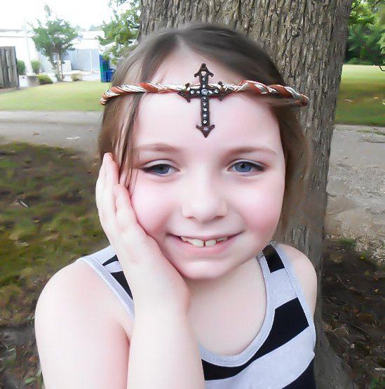 Cross Circlet, Cross Jewelry, Elven Circlet, Bridal Tiara, Wedding Crown, Elven Cosplay, Costume, Renaissance crown, Renaissance costume