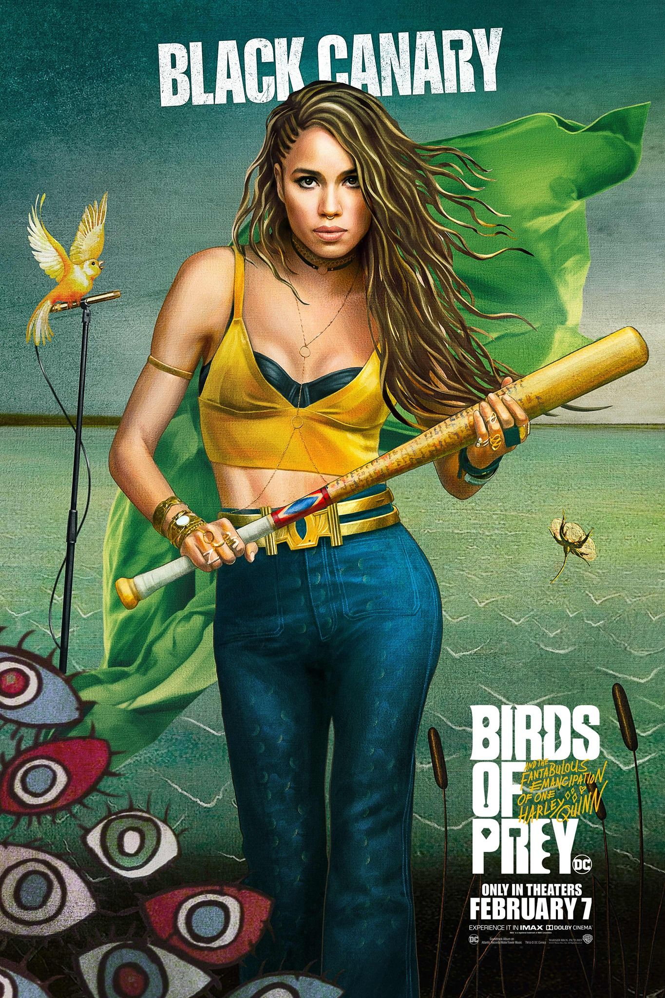Birds Of Prey Trailer Oficial Posters Canary Birds Birds Of Prey Black Canary