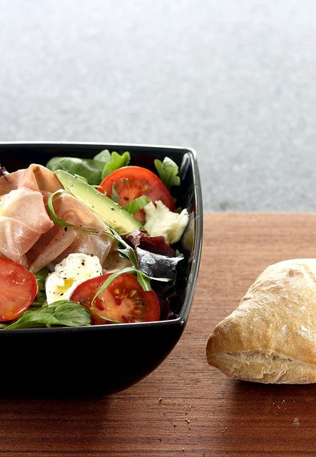 tomato, prosciutto, mozzarella - nothing special ;-) by photo-copy, via Flickr