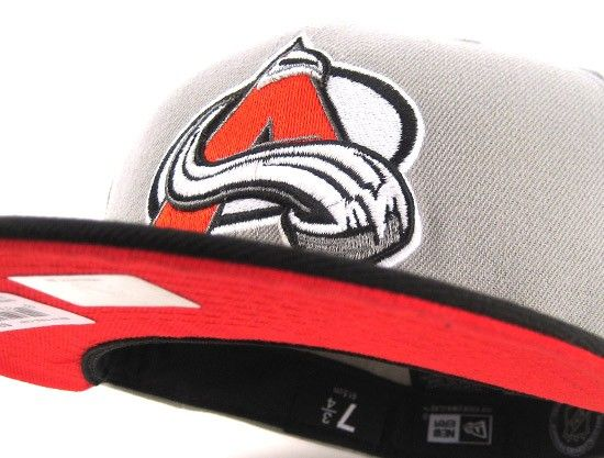 Colorado Avalanche 59FIFTY New Era Fitted Cap (GREY BLACK RADIANT RED) e999e3731a15
