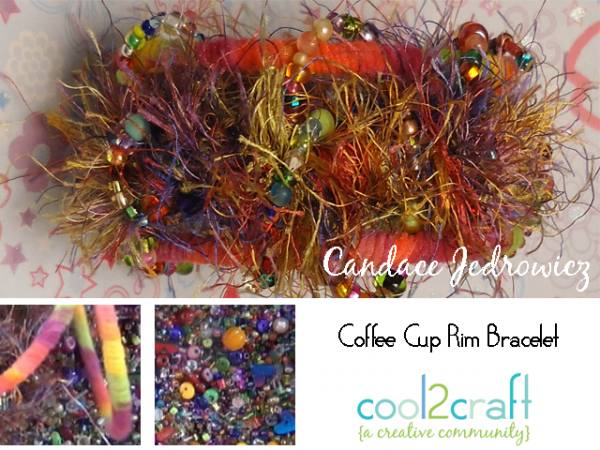 From recycled rim of a coffee cup to fun and funky bracelet