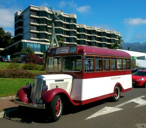 Vintage bus at Funchal, Madeira