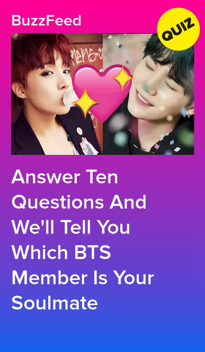 Which Member Of BTS Is Your Soulmate? | Bts soulmate quiz