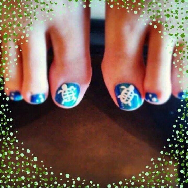 Sea Turtle Nail Art: Sea Turtle Nails