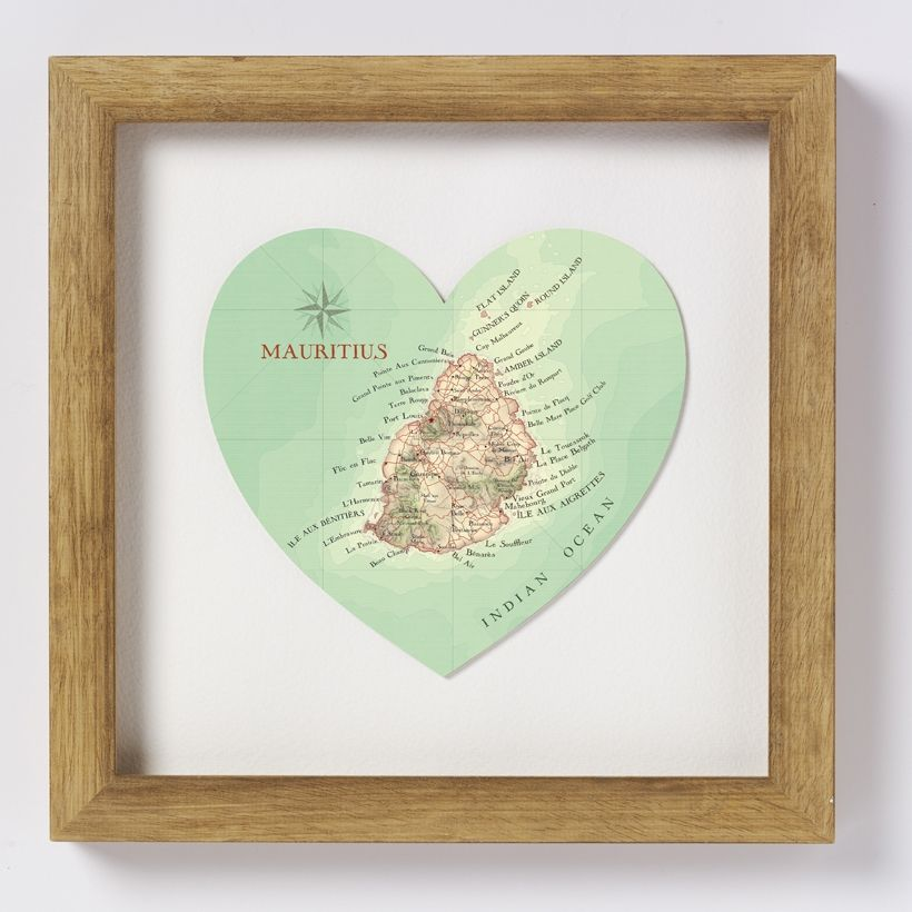 Mauritius Map Print Mauritius Buy Gifts Online And Homewares Online