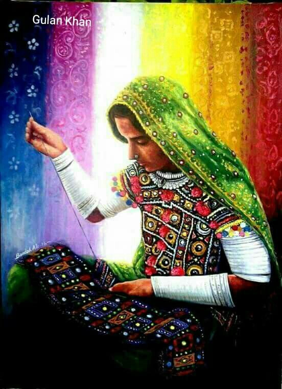 Awesome View Of Beautiful Photography Of Sindhi Cultural Portrait