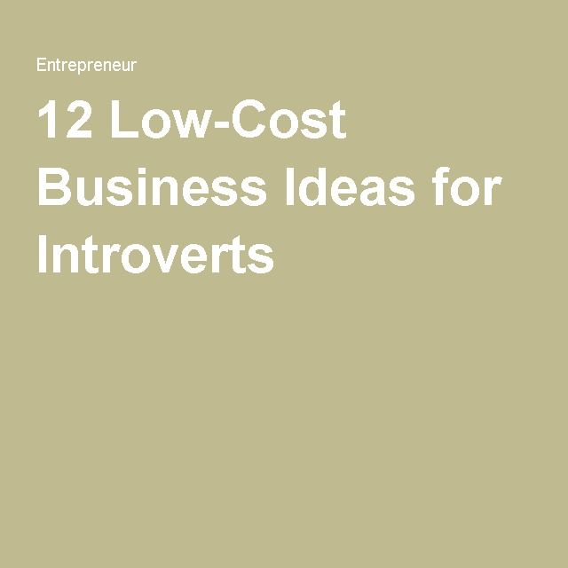 12 Low Cost Business Ideas For Introverts
