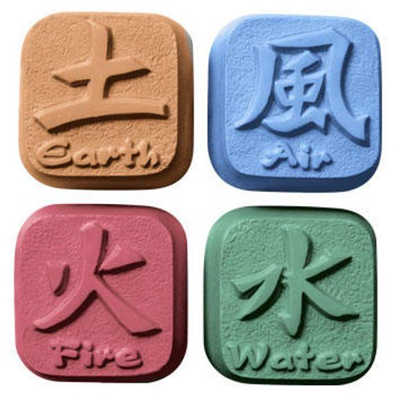 Soap Mold Elements Soap Mold Earth Air Fire And Water Chinese