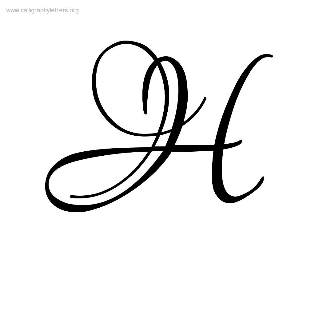 Calligraphy letter h g um writing stuff i