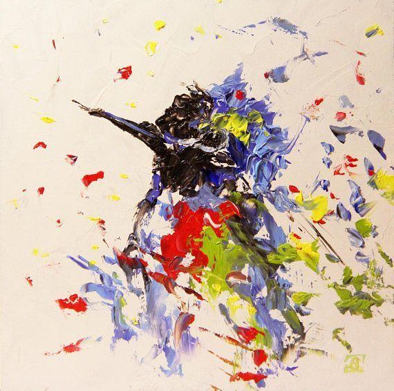 hummingbird oil painting abstract birds paintings birds art