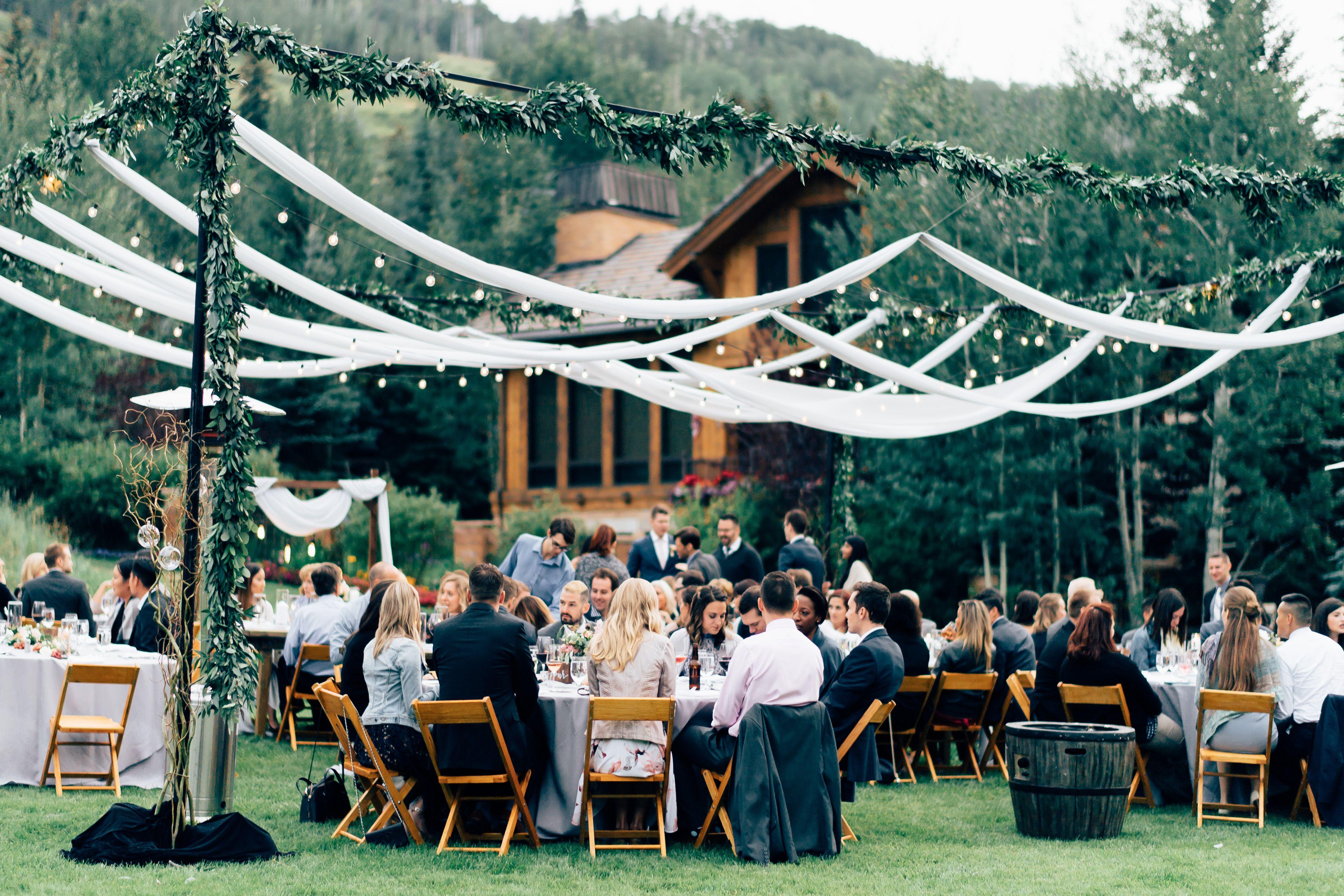 Wedding Decor Outdoor Reception Ceremony Decor Mountain