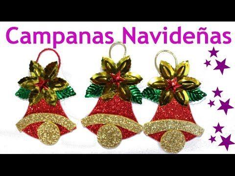 Manualidades para navidad Campanas navideas Manualidades de Lina