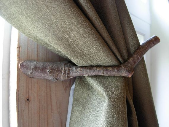 Pair Of Handcrafted Rustic Curtain Tie Backs By Dutchhomestead Rustic Curtains Curtain Tie Backs Boho Curtains