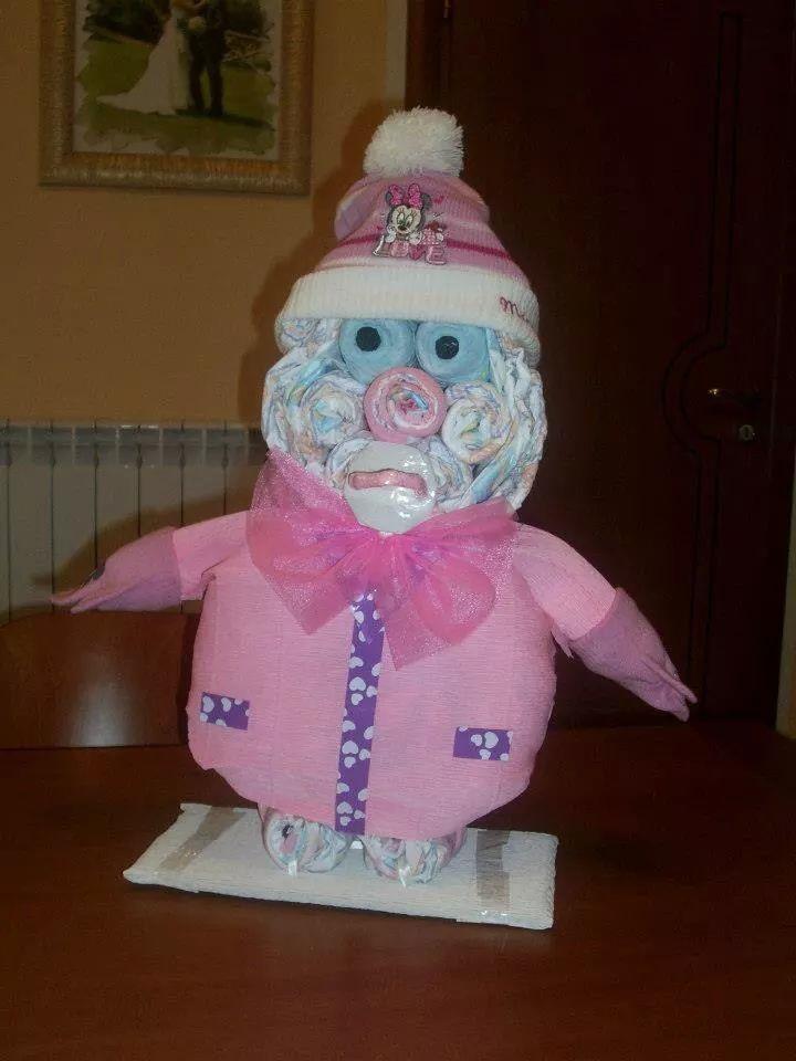 Torta di pannolini ,orsetta, diaper cake