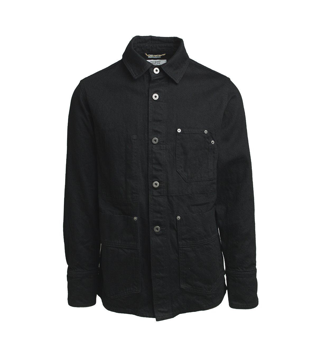 Freemans Sporting Club — Chore Jacket Black Denim Jackets