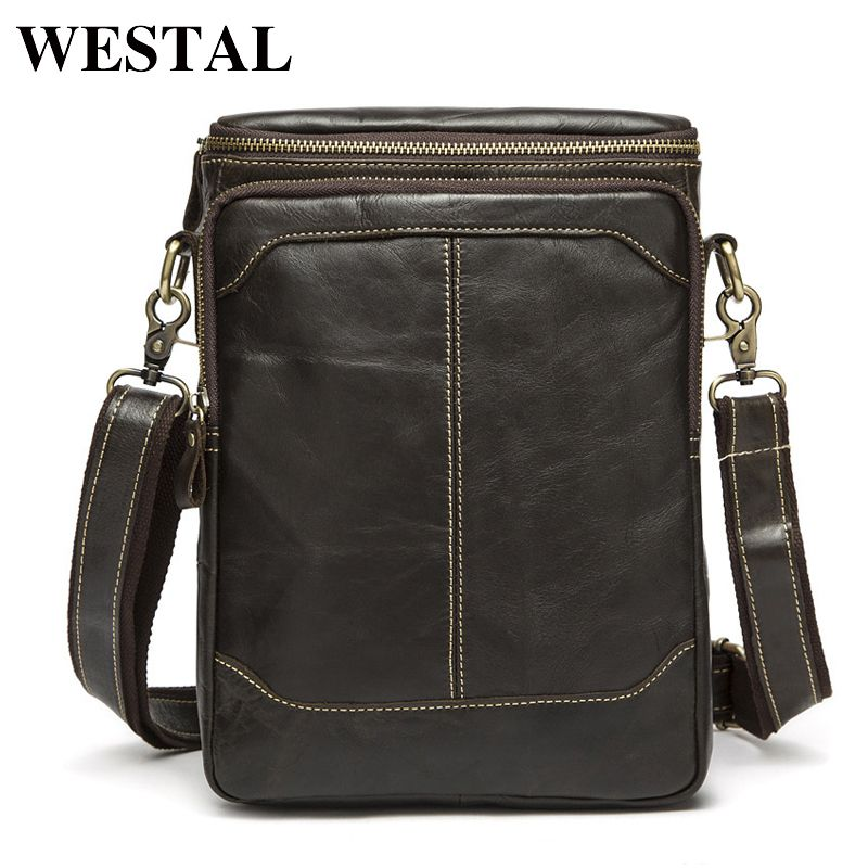 Leather · WESTAL Hot Sale Male Bags 100% Genuine Leather Men Bags Messenger  Crossbody Shoulder Bag Men s b659f228a98d6