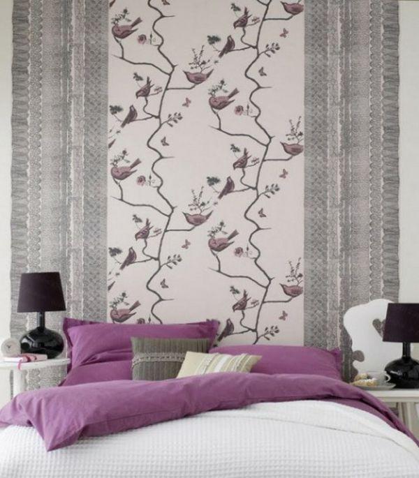 vögel und zweige malerschablone für tapeten im schlafzimmer - 30 ...
