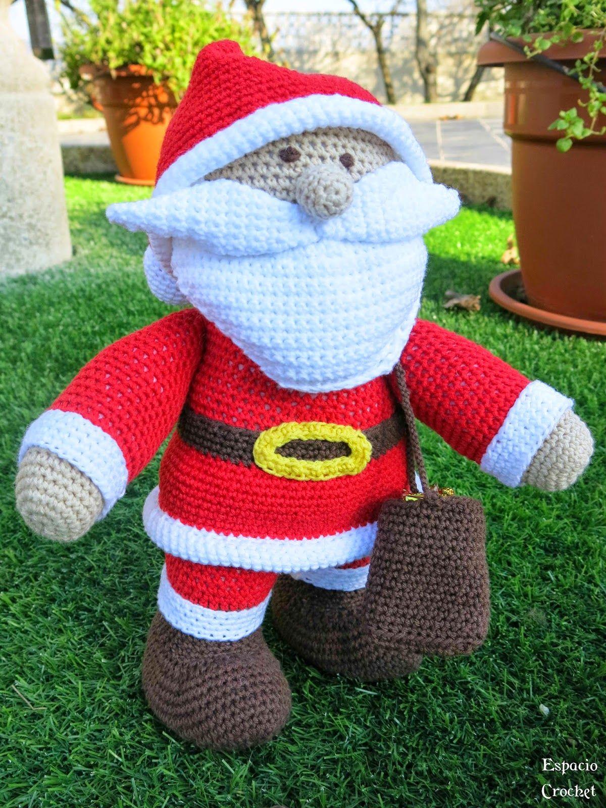 Espacio Crochet: Papá Noel Amigurumi   Crochet: Amigurumis ...