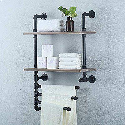: Amazon.com: Industrial Towel Rack With 3 Towel Bar,Rustic Bathroom Shelves Wal...  : Amazon.com: Industrial Towel Rack With 3 Towel Bar,Rustic Bathroom Shelves Wal…#amazoncom #barr #Amazoncom #BarRustic #bathroom #Industrial #rack #Shelves #Towel #Wal