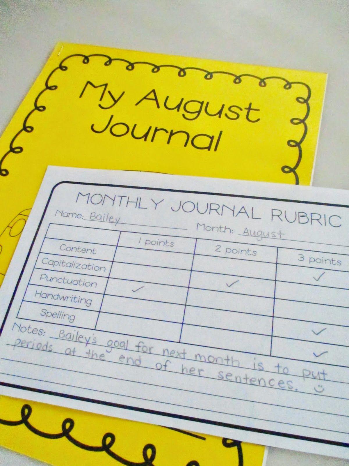 First Grade Journal Writing