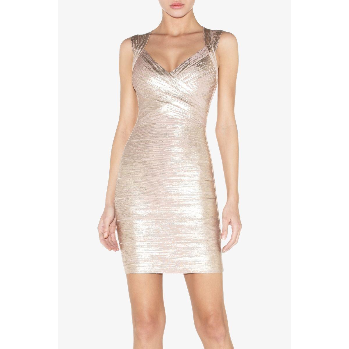 Herve leger iman foil bandage dress dresses pinterest herve