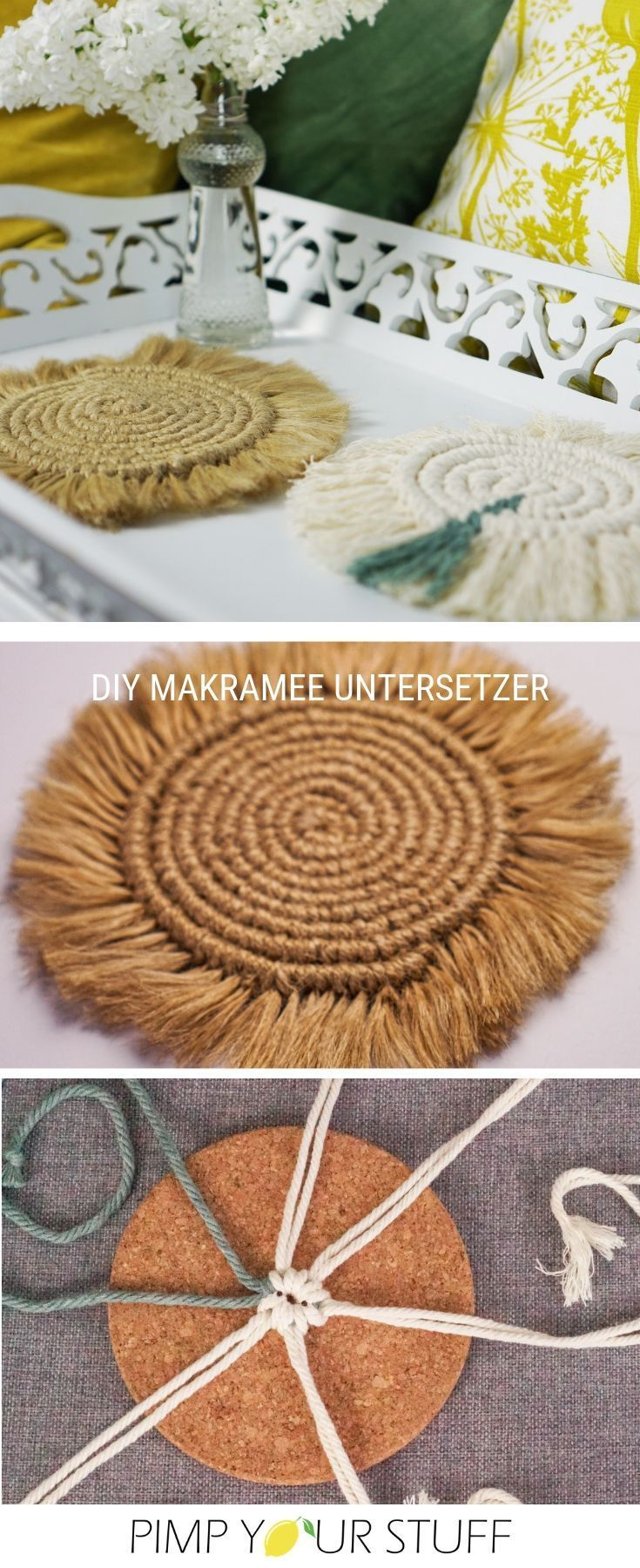 Photo of Make macrame coasters yourself – Pimp Your Stuff
