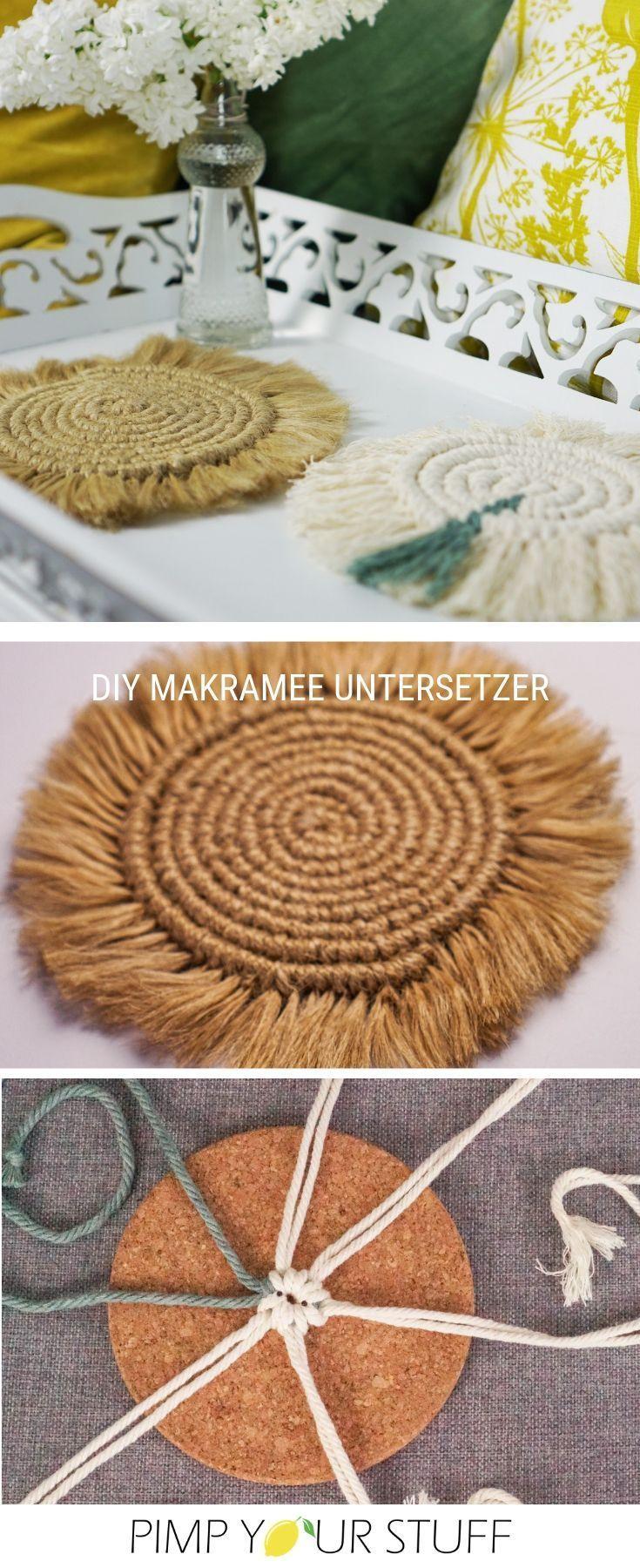 Photo of Machen Sie selbst Makramee-Untersetzer – Pimp Your Stuff