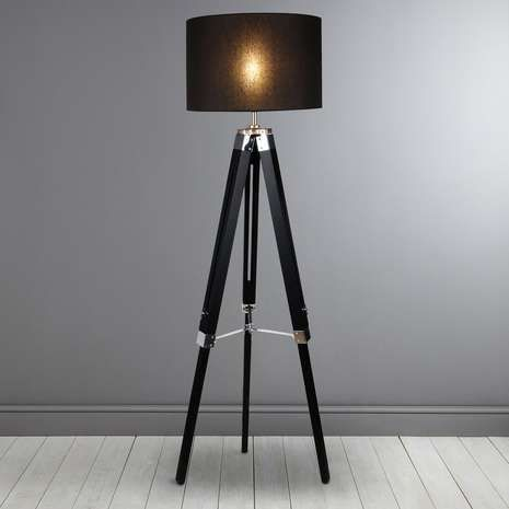 Trio black tripod floor lamp dunelm
