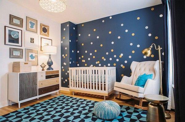 Chambre De Bebe Stylee Et Reposante En Avant Le Bleu Met