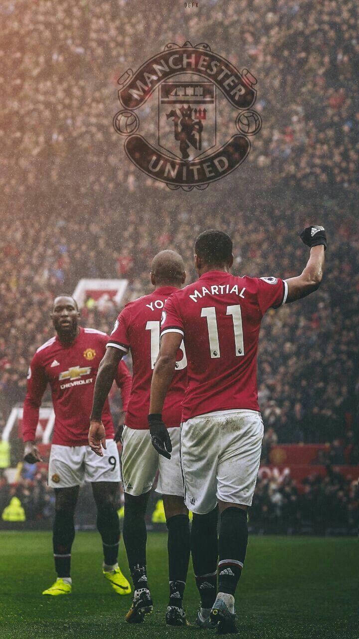 glory glory manchester united sepak bola pinterest