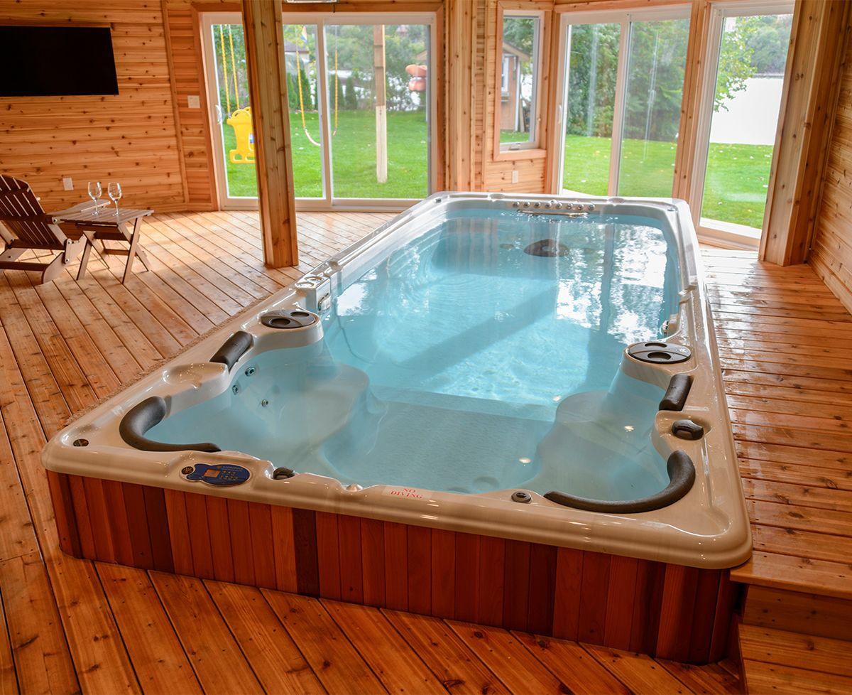 Swim Spas Durham Hot Tub Pool Supply Store Swim Spa Indoor Swim Spa Hot Tub Swim Spa