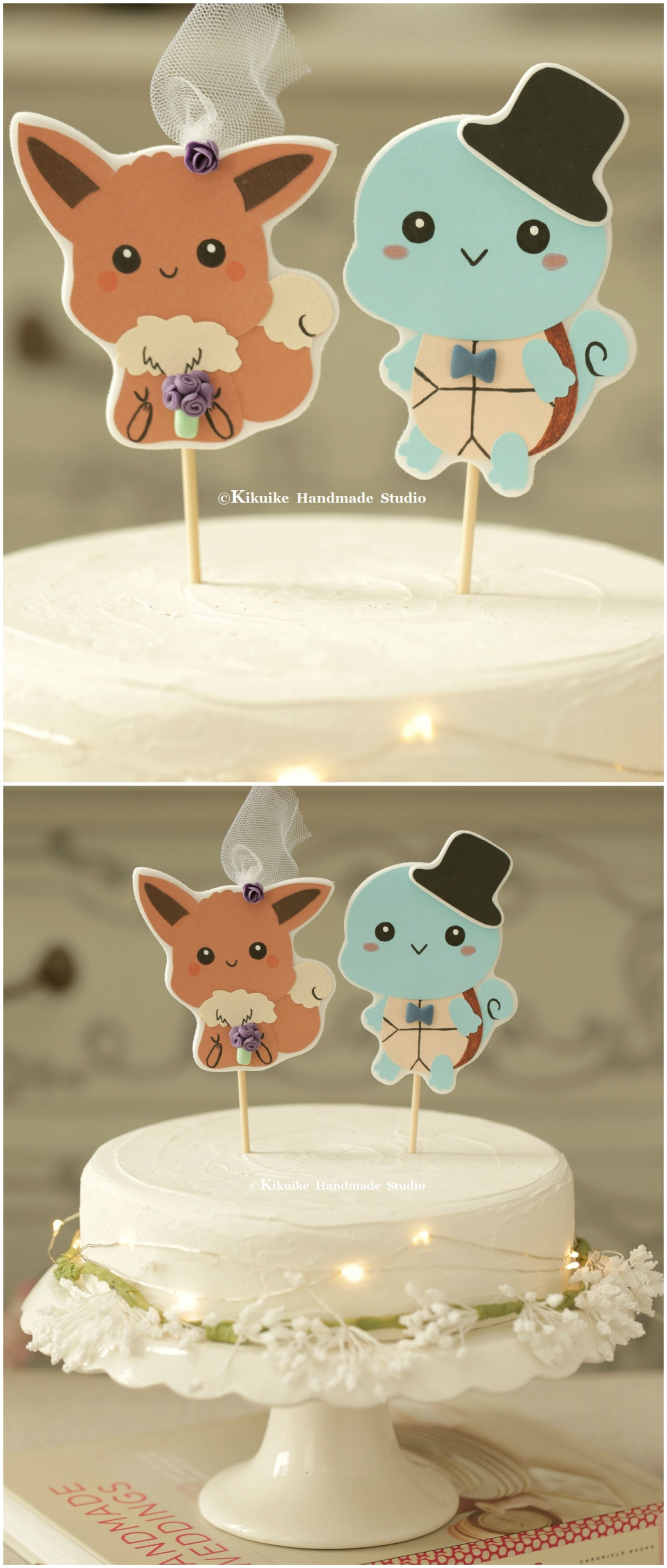 Pokemon Wedding Cake Topperpocket monster Wedding cake topper