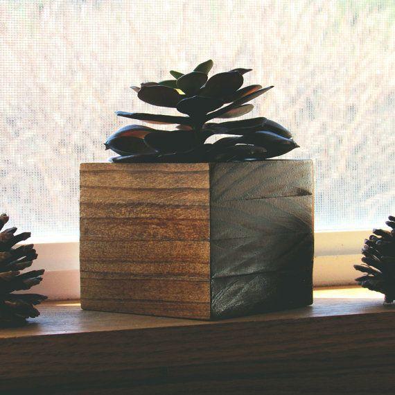 Indoor Garden Box succulent planter, wood planter, succulent pot, indoor planter