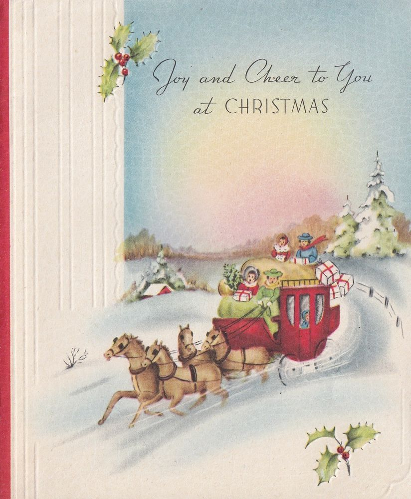 Vintage greeting card christmas old fashioned stagecoach people vintage greeting card christmas old fashioned stagecoach people kristyandbryce Image collections