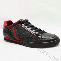 ddd3059e1656 Chaussures Gucci Homme Pas Cher En Brillant Noir vert   Bottes Gucci ...