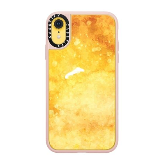 iPhone XR Case Watercolor yellow orange hand painted