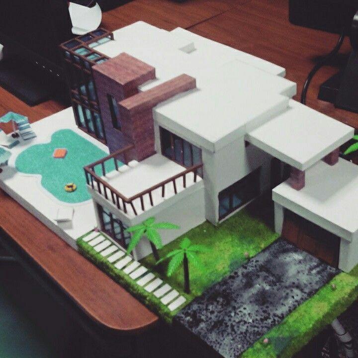 maqueta casa moderna arrw pinterest casas modernas