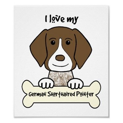 GSP German Shorthaired Pointer Smile Postcard Pack of 4