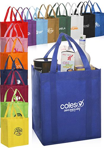 e435749083 Custom non-woven polypropylene reusable grocery bags in bulk cheap  wholesale prices. Our promotional tote bags can be printed with your logo  or graphic ...