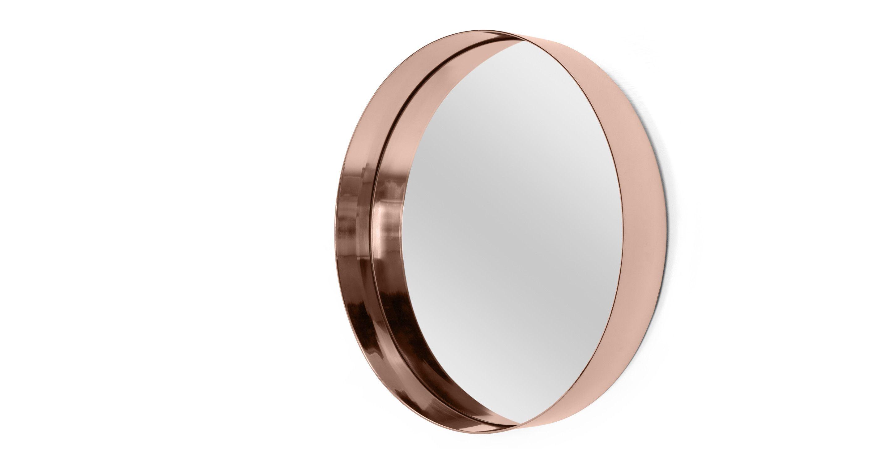 Alana Round Mirror, Copper