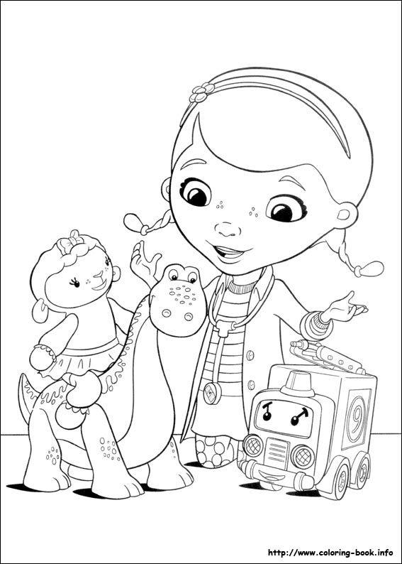 Doc McStuffins coloring picture | cuadros para niños | Pinterest ...