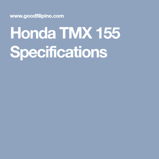 honda tmx 155 specifications honda motorcycles, honda bikes
