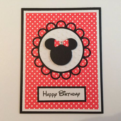 Handmade-Minnie-Mouse-Birthday-Card-Disney-Mickey-Mouse