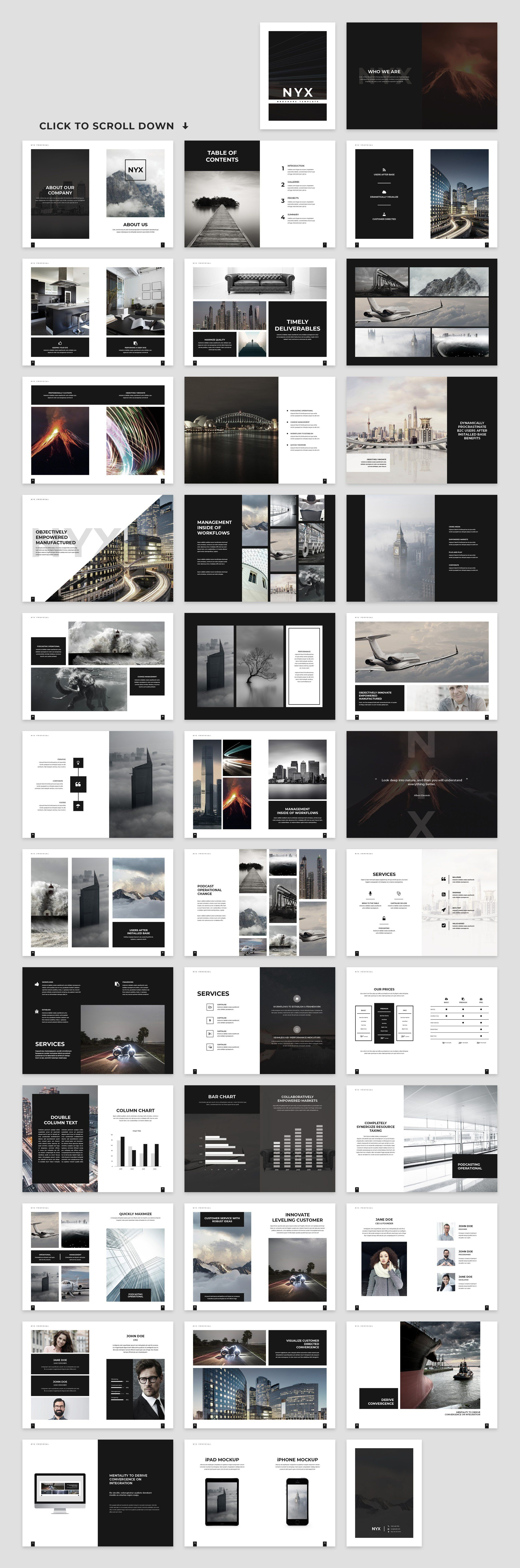 Nyx Proposal Template Proposal templates, Instagram