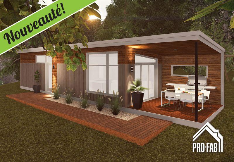 Maison modèle' | Pre fab tiny house, Dream house plans, Modern cabin